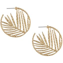 Bay Studio Leaf Cutout C Hoop Earrings