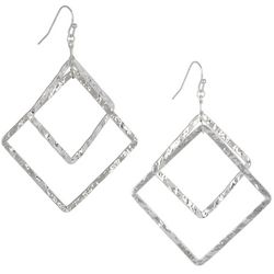 Bay Studio Open Hammered Square Dangle Earrings