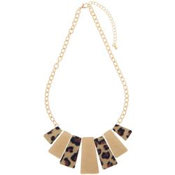 Bay Studio Leopard Print Hammered Metal Necklace