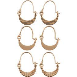 Bay Studio Crescent Shape Trio Earring Set