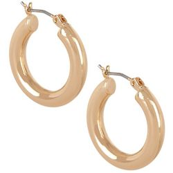 Bay Studio 22 MM Gold Tone Tubular Hoop Earrings