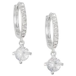 Bay Studio Crystal Huggie & CZ Drop Earrings