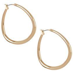 Bay Studio Gold Tone Open Hoop Click It Earrings