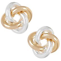 Bay Studio Two Tone Love Knot Stud Earrings