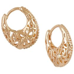 Bay Studio Small Filigree Huggie Hoop Earrings