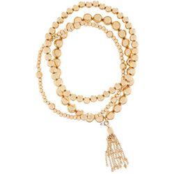 Bay Studio 3 Pc Gold Tone Beaded Bracelet Set
