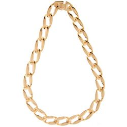 Bay Studio Large Gold Tone Oval Link Necklace