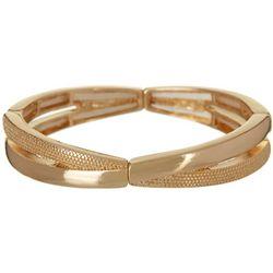 Bay Studio Gold Tone 2 Row Twist Stretch Bracelet
