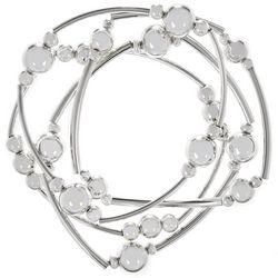 Bay Studio Silver Tone 4 Row Tubular Bracelet Set