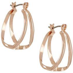 Bay Studio Rose Gold Tone Double Hoop Earrings