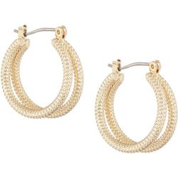 Bay Studio Gold Tone Double Rope Hoop Earrings