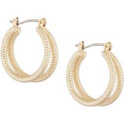 Bay Studio Gold Tone Double Rope Hoop Earrings