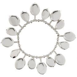 Bay Studio Shaky Silver Tone Beaded Stretch Bracelet