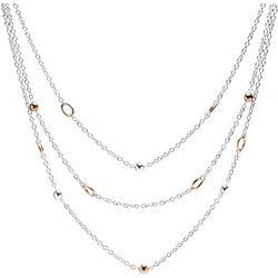 Bay Studio Two Tone Bead Three Row Necklace