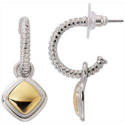 Bay Studio Two Tone Geometric C-Hoop Earrings