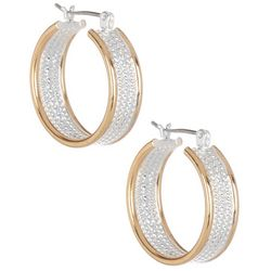 Bay Studio Twisted Rope Hoop Earrings