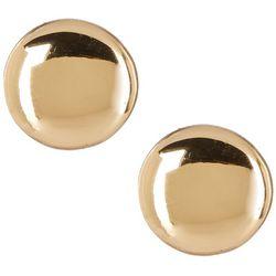 Bay Studio Gold Tone Button Disc Earrings