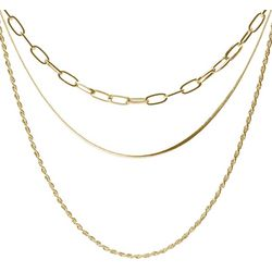 Bay Studio Gold Tone Multi Chain Layered Necklace