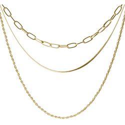Bay Studio Gold Tone Multi Chain Layered Necklace
