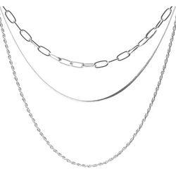 Bay Studio Silver Tone Multi Chain Layered Necklace