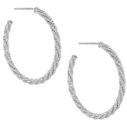 Bay Studio Textured Hoop Post Top Earrings