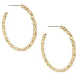 Bay Studio Textured Post Top Hoop Earrings