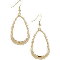 Bay Studio Hammered Open Teardrop Earrings