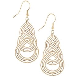 Bay Studio Triple Teardrop Gold Tone Earrings