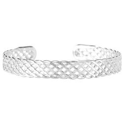 Bay Studio Open Basket Weave Cuff Bracelet