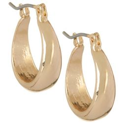 Bay Studio 15mm Gold Tone Click It Hoop Earrings