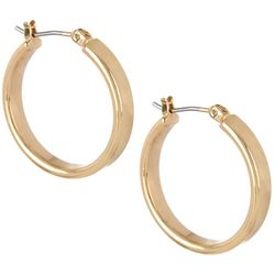 Bay Studio Gold Tone Wedding Band Hoop Earrings