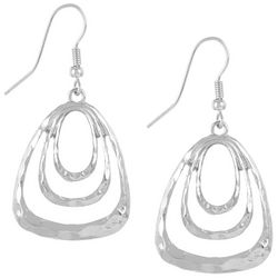 Bay Studio Hammered Triple Triangle Ring Earrings
