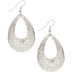 Bay Studio Filigree Teardrop Shape Silver Tone Earrings