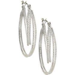Bay Studio Twist Textured Hoop Earrings