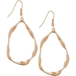 Bay Studio Rose Gold Tone Wavy Teardrop Earrings