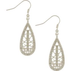 Bay Studio Rhinestone Filigree Teardrop Earrings