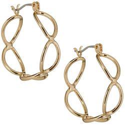 Bay Studio Gold Tone Oval Link Hoop Earrings