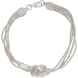 Multi Row Snake Chain Knot Bracelet