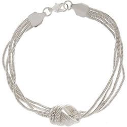 Multi Row Snake Chain Knot Bracelet