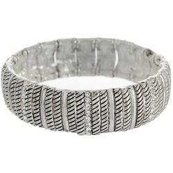 Bay Studio Textured & Rhinestone Accents Stretch Bracelet