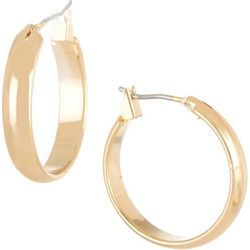 Bay Studio .5 in. Gold Tone Flat Hoop Earrings