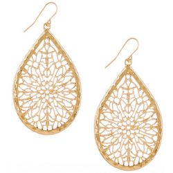 Bay Studio Gold Tone Filigree Teardrop Earrings