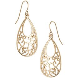 Bay Studio Filigree Gold Tone Teardrop Earrings