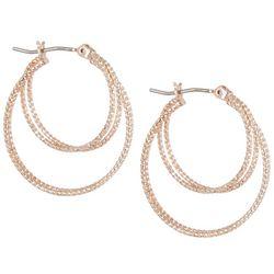 Bay Studio 25mm Rose Gold Tone Hoop Earrings