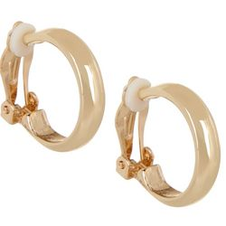 Bay Studio 20mm Gold Tone Hoop Clip On
