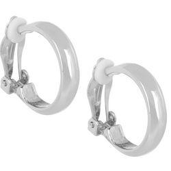Bay Studio 20mm Silver Tone Hoop Clip On Earrings