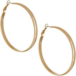 Bay Studio 57mm Gold Tone Large Hoop Earrings