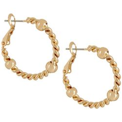 Bay Studio Gold Tone 24mm Rope Hoop Earrings