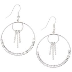 Bay Studio Textured Hoop Drop Earrings
