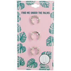 3 Pc Find Me Under The Palms Toe Ring Set